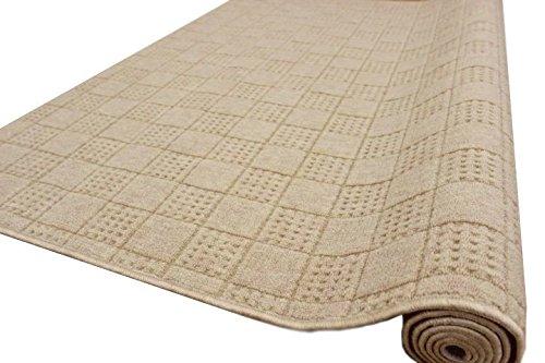 カーペット 4.5畳 絨毯 防音 撥水 261x261cm チェックアイ LL-35 ベージュ色 B01CLG1UAY ベージュ 4.5畳 (261×261cm)