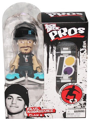 Tech Deck Pro Skater Action Figure with Skateboard Paul Rodriguez Plan B