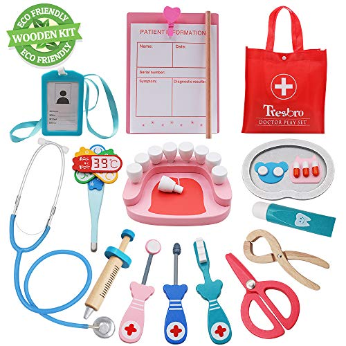 Scary Doctor Girl Costumes Ideas For Kids - Tresbro Doctor Kits for Kids, Wooden