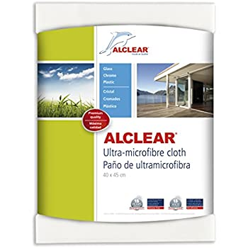 ALCLEAR 950001US Ultra-Microfiber Cleaning Cloth for Windows and smooth surfaces, white, size 17.72 x 15.75 in.