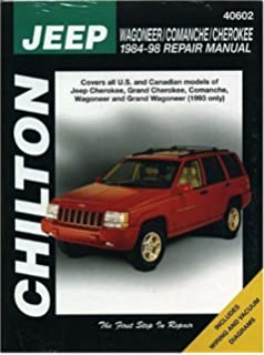Jeep wagoneercommanchecherokee 1984 2001 chiltons total car care jeep wagoneer comanche and cherokee 1984 98 repair manual fandeluxe Choice Image