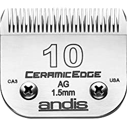 Andis CeramicEdge Carbon-Infused Steel Pet Clipper Blade, Size-10, 1/16-Inch Cut Length (64315)