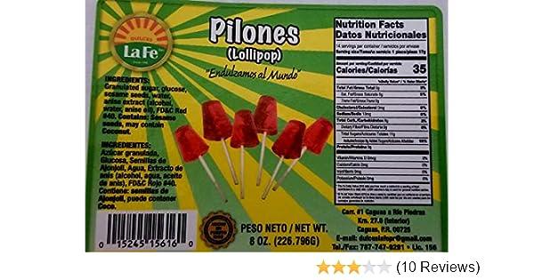 Amazon.com : Lolipops (Pilones) By Fabrica De Dulces La Fe (12-18 Pieces) 8 Oz Pack : Suckers And Lollipops : Grocery & Gourmet Food