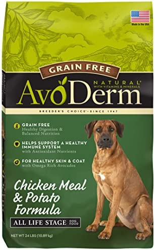 AvoDerm Natural All Life Stages Dry Wet Dog Food, Grain Free, Chicken Vegetables Recipe