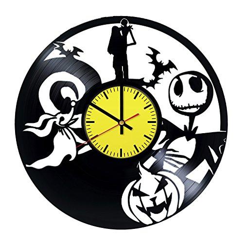 Halloween Town Nightmare Before Christmas Sally Jack Art Design Vinyl Record Wall Clock - Get unique room wall decor - Gift ideas boys and girls – Interior Decor Unique Modern Art Design ()