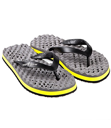 Mad Wave-Pantofole M0316 02 6 0,06 W, colore: grigio/giallo, Taglia 40