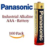 New Multi Pack Panasonic LR03 Industrial AAA Alkaline Battery - 40 Pack - 100 Pack - 142 Pack - 400 Pack (100 Pack)