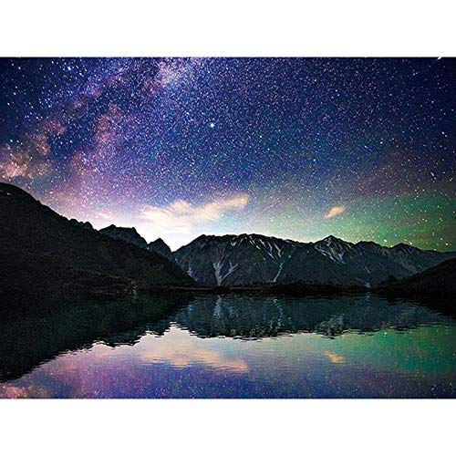 - 5D Diy Diamond Painting Starry Mountains And Lakes?Embroidery Full Round Diamond Embroidery Cross Stitch Full Square Fashion Home Decor(Frameless)