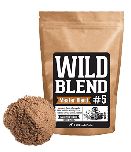 Price comparison product image Wild Blend 5 Master Mix Superfood Powder Blend Mix for Smoothies,  Shakes,  Coffee,  Baking - Health,  Performance,  Nootropic Mental Performance ( 5 Master Blend - 8oz)
