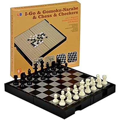 4 in 1 Travel Magnetic Go and Chess Set