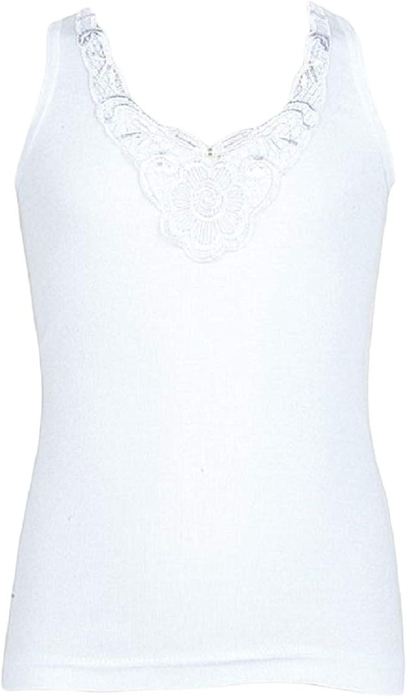 Mädchen Hemden 5er Pack Unterwäsche Unterhemd Nachthemd Weiß mit Motiv 4371RD