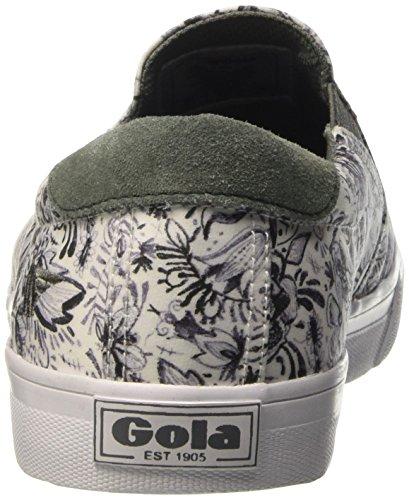 Gola Delta Liberty BG, Baskets Basses Femme Blanc - Weiß (White/Grey)