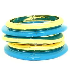 5 piezas juego: apilables con revestimiento de ovillo de resina Brazalete/juego de Armreif