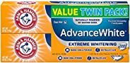 Arm & Hammer Advance White Extreme Whitening with Stain Defense, Fresh Mint, 6 oz Twin Pack (Packaging May