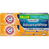 Beauty : Arm & Hammer Advance White Extreme Whitening with Stain Defense, Fresh Mint, 6 oz Twin Pack (Packaging May Vary)