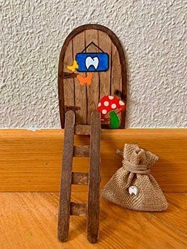 Puerta Ratón Pérez mágica. Regalo original niño niña Ratoncito Pérez. Hecho a mano en España.