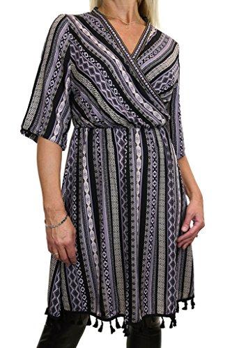 ICE (4090-1) de vestir la túnica de pijamas Pasos azteca Estilo Negro Gris