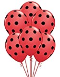 Qualatex Big Black Polka Dots Biodegradable Latex Balloons, 11-Inch (12-Units)