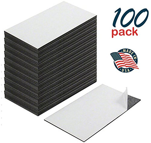 ss Card Magnets, Peel and Stick, Great Promotional Product, Value Pack of 100 (Stick Magnet)