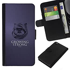 All Phone Most Case / Oferta Especial Cáscara Funda de cuero Monedero Cubierta de proteccion Caso / Wallet Case for HTC DESIRE 816 // Growing Strong Ewok