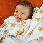 Muslin-Swaddling-Blanket-Orange-Goldfish-Made-from-Organic-Cotton-by-Bambino-Land
