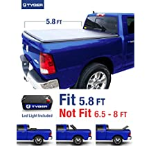 Tyger Auto TG-BC3D1015 Tri-Fold Pickup Tonneau Cover (Fits 2009-2016 Dodge Ram 1500 5.8 feet (69.6 inch) Tri-Fold Truck Cargo Bed Tonneau Cover (NOT (For Stepside))