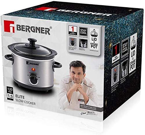 BERGNER-Elite-Stainless-Steel-Slow-Cooker-15-Liter-Grey