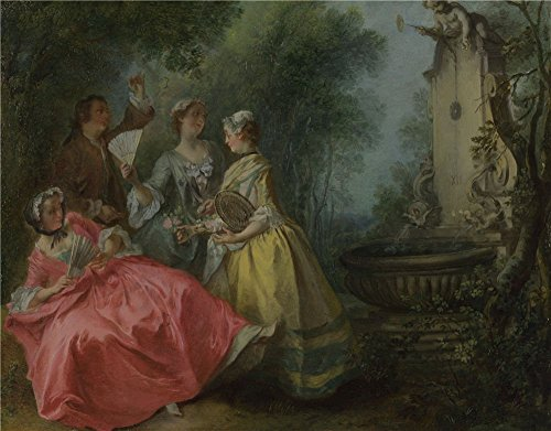 [The Perfect Effect Canvas Of Oil Painting 'Nicolas Lancret The Four Times Of Day Midday ' ,size: 20 X 26 Inch / 51 X 65 Cm ,this Vivid Art Decorative Prints On Canvas Is Fit For Gym Decor And Home Decor And] (China Doll Oz Costume)
