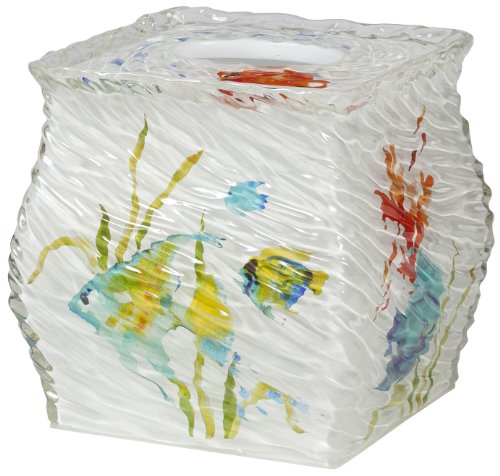 Creative Bath RBF58MULT Rainbow Fish Boutique Tissue, Multi-Color (Resin Boutique Tissue Box)