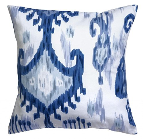 - Decorative Pillows Throw Pillows Pillow Covers 18 Inch Square Cover Waverly Blue & White Ikat