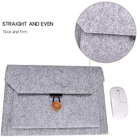 GuiPing Multi-Purpose Felt Button Laptop Inner Bag for 13.3 inch Laptop Color : Grey