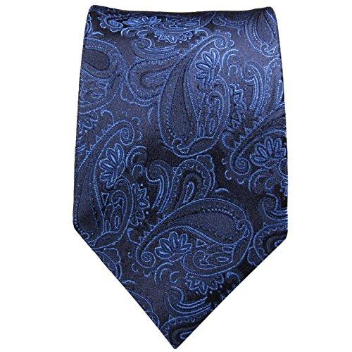 Cravate homme bleu paisley 100% cravate en soie ( longueur 165cm )