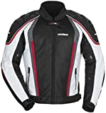 Cortech GX Sport Air 4.0 Adult Mesh Road Race Motorcycle Jacket - White/Black / Medium