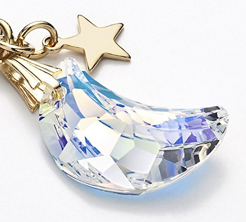 Cell phone Strap 031 crescent - Crystal Aurora (Gold Court) by Kisaragi (Image #1)