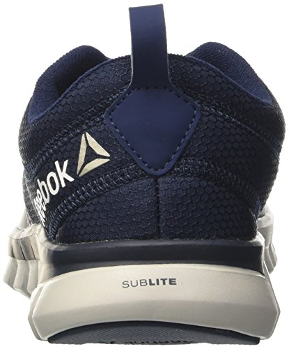 Reebok Sublite Authentic 4, Zapatos para Correr para Hombre Multicolor (Navy/grey/blk)