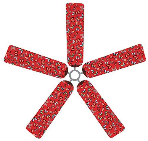 Fan Blade Designs P7-X45Q-XYKV Ceiling Fan Blade Covers, Butterflies
