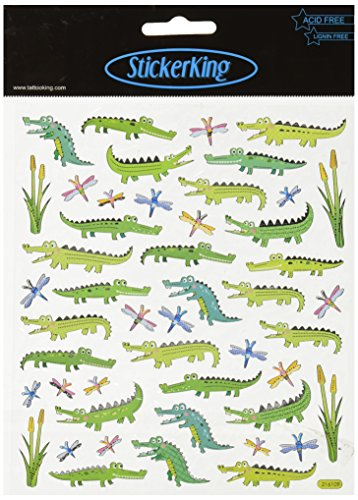 Tattoo King SK129MC-4252 Multi-Colored Stickers-Alligator Fun