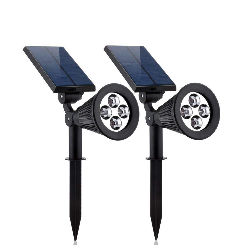 Paracity - Lámpara solar para exterior, proyector solar ...