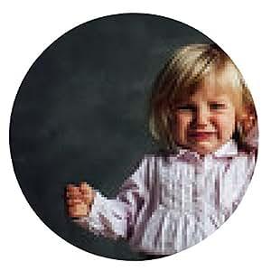 alfombrilla de ratón Retrato de la niña emocional - ronda - 20cm