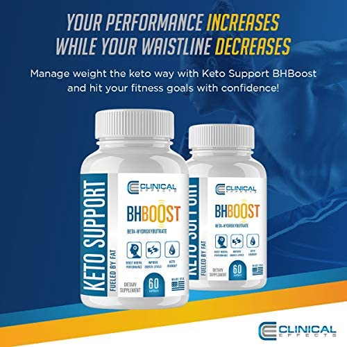 Clinical Effects: Keto Support BHBoost - Dietary Supplement for Keto Weight Loss - 60 Capsules per Bottle - 3 Bottles - Fat Burner Support - Exogenous Ketones - Restore Electrolytes and Boost Energy 5
