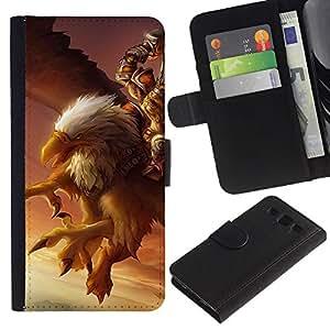 SAMSUNG Galaxy S3 III / i9300 / i747 Modelo colorido cuero carpeta tirón caso cubierta piel Holster Funda protección - Eagle Pc Game Mystery Gamer Giant Bird
