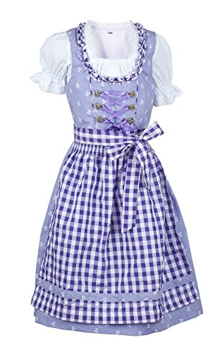 Ramona Lippert Dirndl Dress Children Chrissi lila Bavarian Style Oktoberfest (4-5 (EUR 110-116) ()