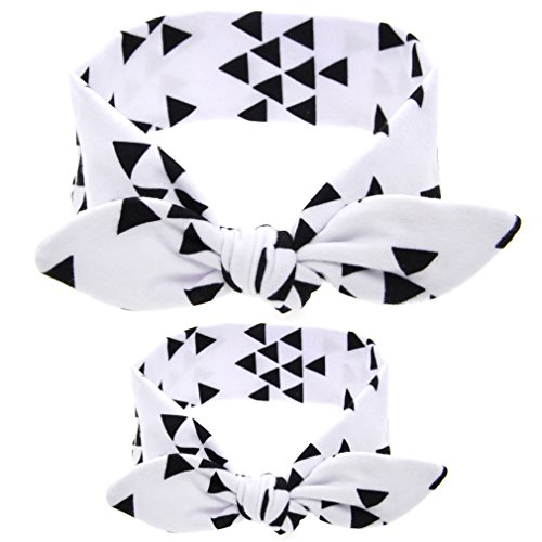 WZT 12PCS Baby and Mom Headbands Bow and Knot Hair Bands Elastic Headwear by WZT (Image #2)