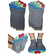 Deluxe Non Skid Anti Slip Yoga Barre Pilates Socks with Grips for Women