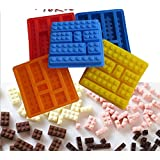 [3 Packed] Wholesale Silicone Make Lego Brick Candy Chocolate Birthday Party Favor Jello Soap Crayon Mold Pan (12 X 12 cm)