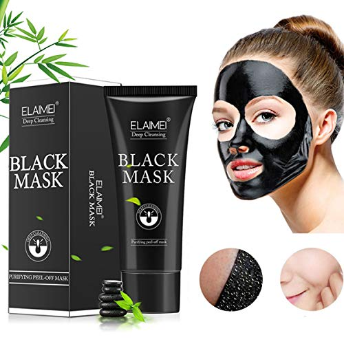 Black Mask,Purifying Blackhead Remover Mask,Peel Off Mask, Deep Cleansing for Acne & Acne Scars, Blemishes, Anti-Aging, Wrinkles,Activated Charcoal Face Mask For All Skin Types(60g)