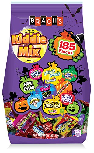 Brach's Kiddie Candy Snack Mix, 185 Count (Halloween 90s Mix)