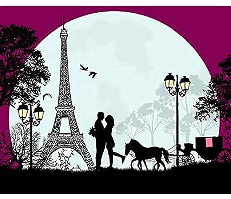 Puzzle 3d City Love Torre Eiffel Arte De La Pared Para