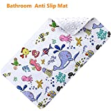Passed SGS Certificate Non Slip Bathroom Mat With Super Soft Surface Sturdy Suction Cup Construction Anti-Bacterial Bathtub Mat Size: 40cm x 70cm