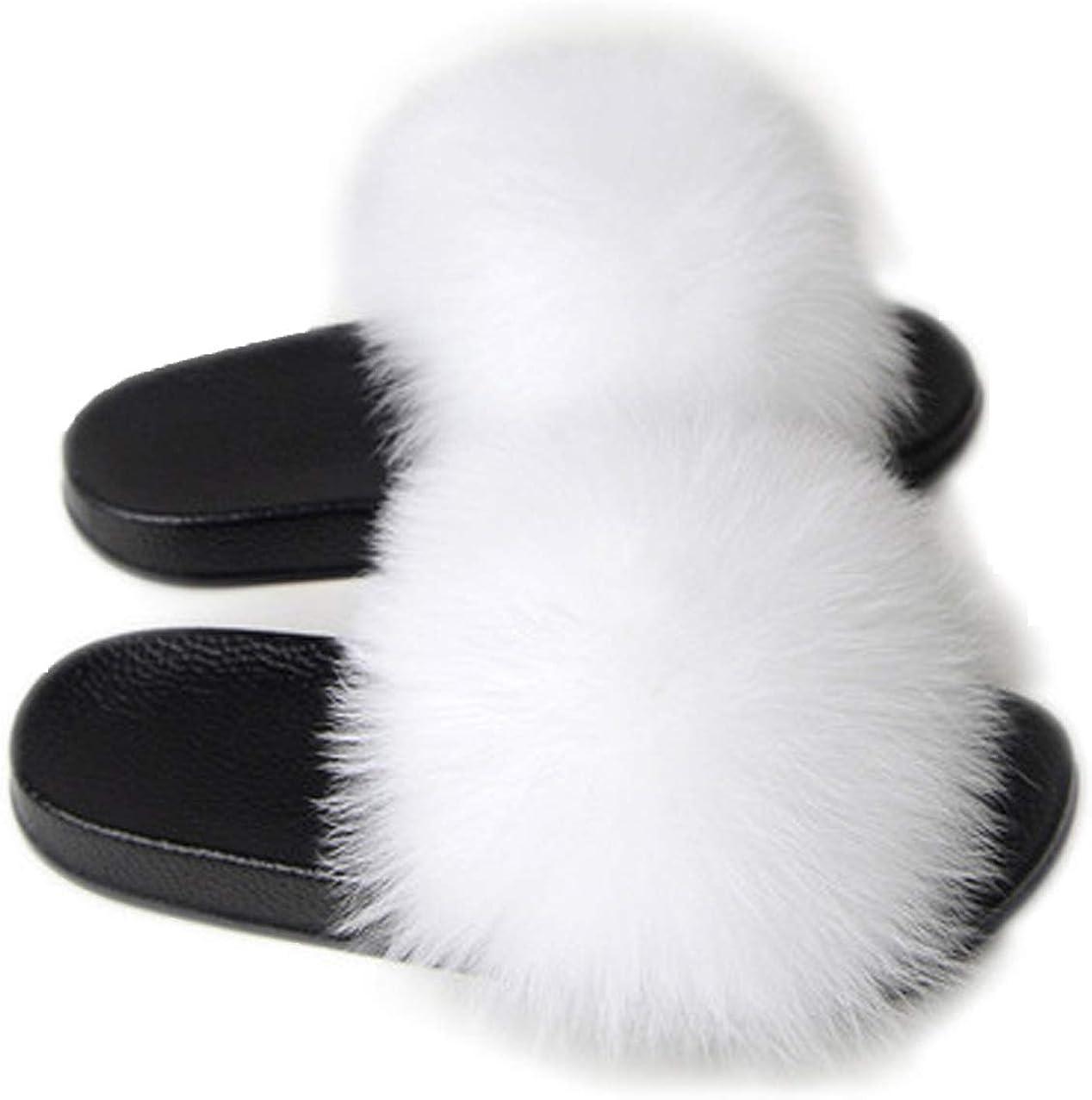 Chaussons Chaudes en Peluche pour Int/érieur et Ext/érieur Pantoufles Fuzzy en Fausse Fourrure Douce Tongs Antid/érapantes et Souples Chaussons pour Femmes